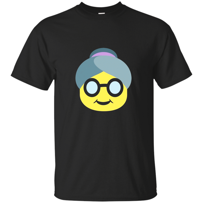 Emoji Grandma T-Shirt Grandparents Grandpa Mother Old