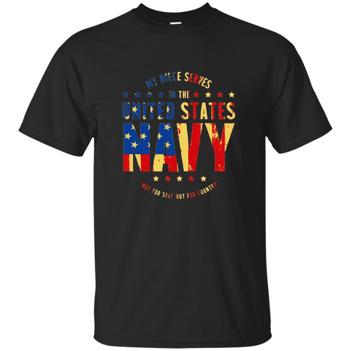 Navy UNCLE AUNT T-Shirt - My Niece Serves U.S. Navy