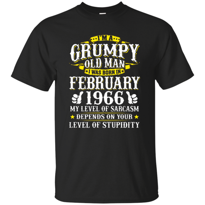 I Was Born In February 1966 T-shirt 52nd Birthday Gifts