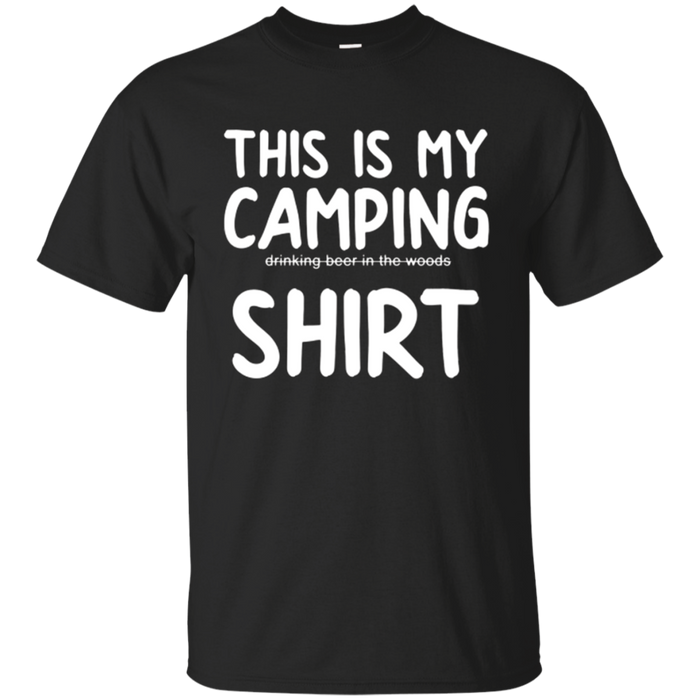This Is My Camping T-Shirt Funny Beer Drinking Drunk Summer