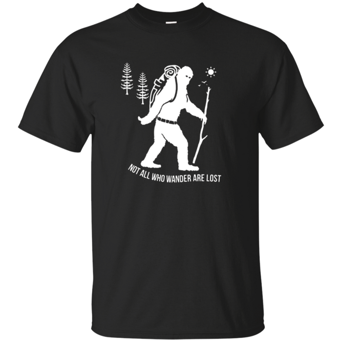 Bigfoot hiking camping tshirt