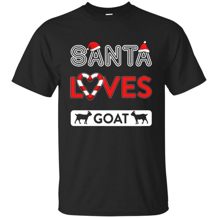 Santa Loves Goat T-shirt Santa Goat Lovers