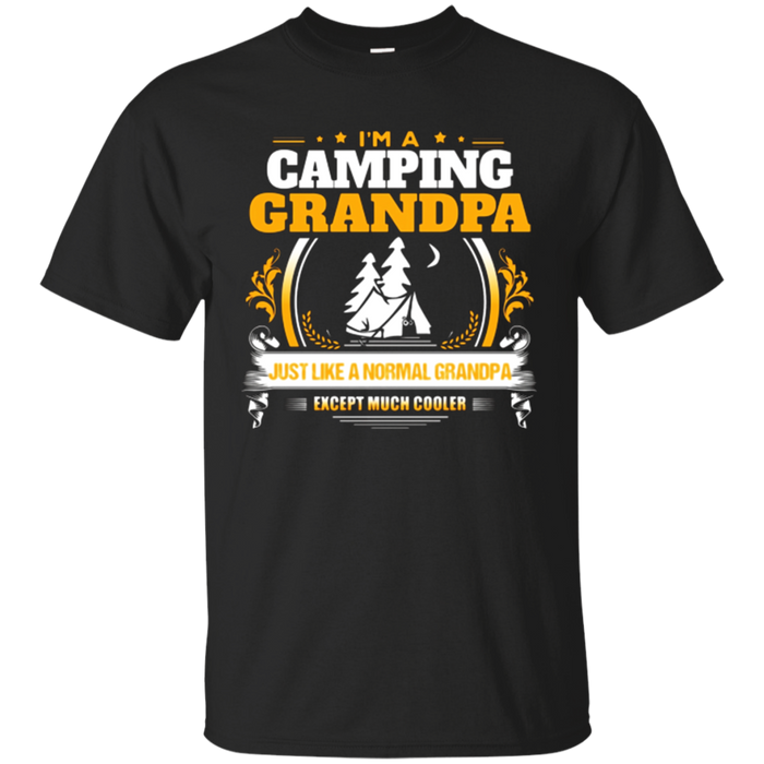 Funny Camping Grandpa Tshirt Christmas Gift For Camper