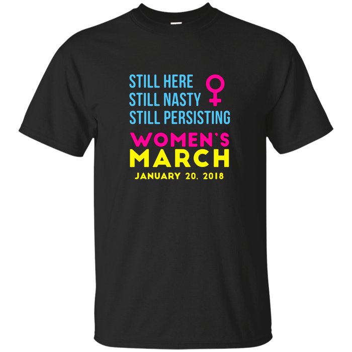 Women's March January 20 2018 Nasty Tee Shirt