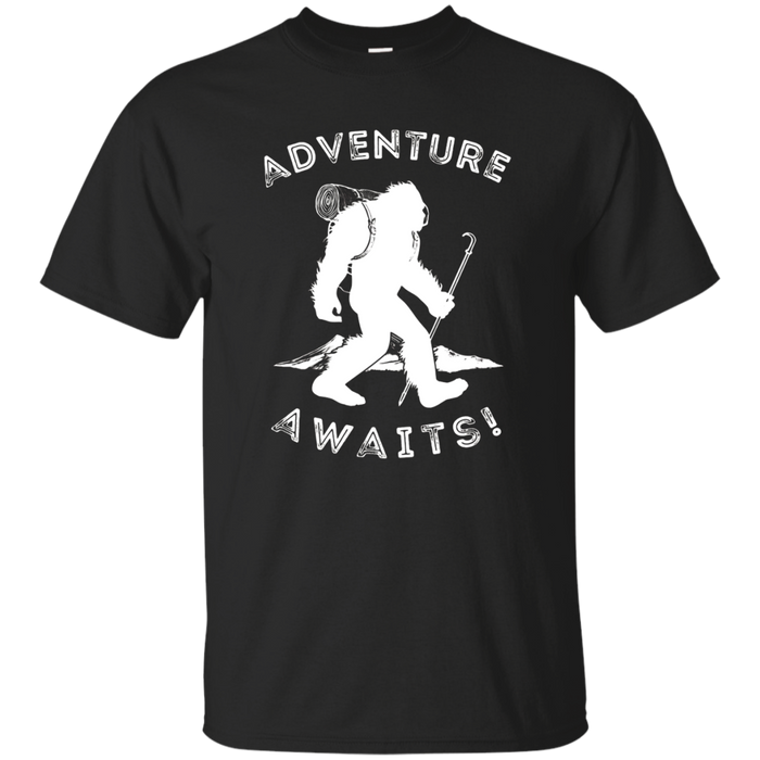 Adventure Awaits Bigfoot T-Shirt, Mountain Hiking Tee