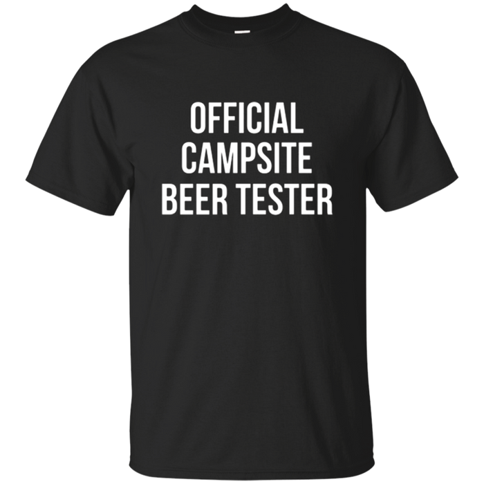 Official Campsite Beer Tester Camping T-Shirt