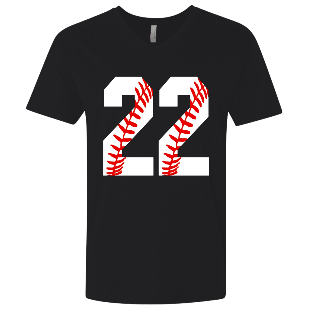 #22 Baseball 22nd Birthday Twenty-Two Baseball Mom T-shirt