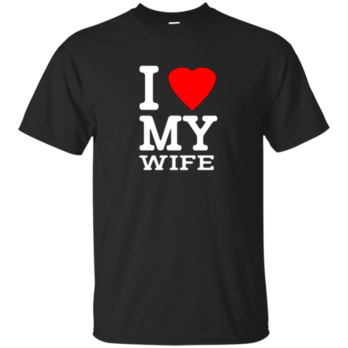Mens I Love My Wife t-shirt for husband