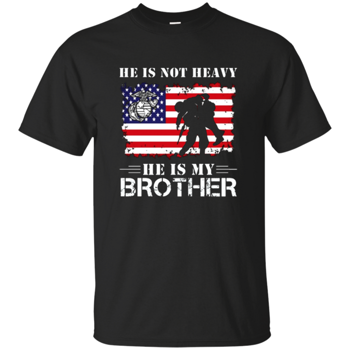 He Is Not Heavy He Is My Brother T-Shirt Cool Usa Flag Gift