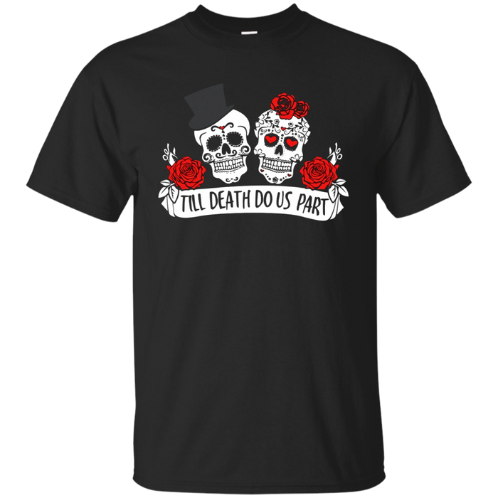 Just Married Husband and Wife Skull T-Shirts