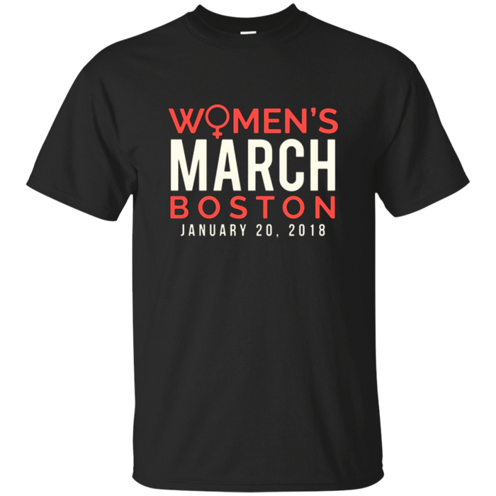 Boston Women's March January 20 2018 Tee Shirt