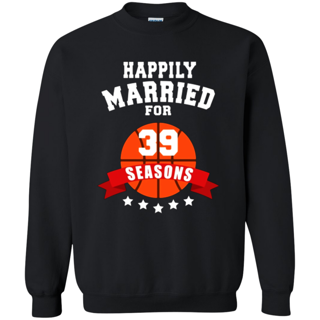 39th Wedding Anniversary T-Shirt Basketball Couple Gift Tee