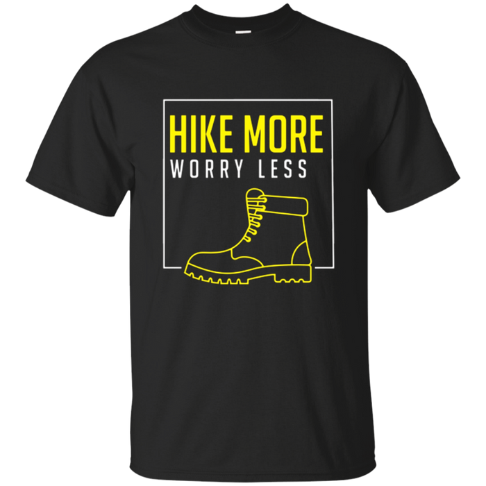 Hike More Worry Less Outdoor Hiking Camping T Shirt