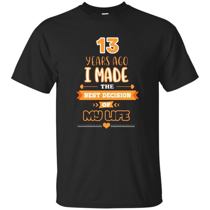 T-Shirt For Husband & Wife. 13th Wedding Anniversary Gift