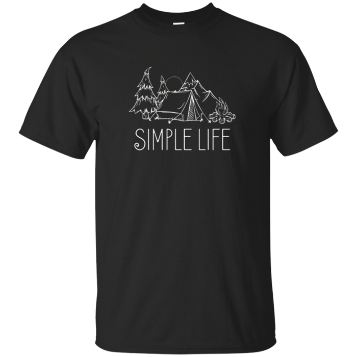 Hiking and Camping T-Shirt for Men and Women Simple Life
