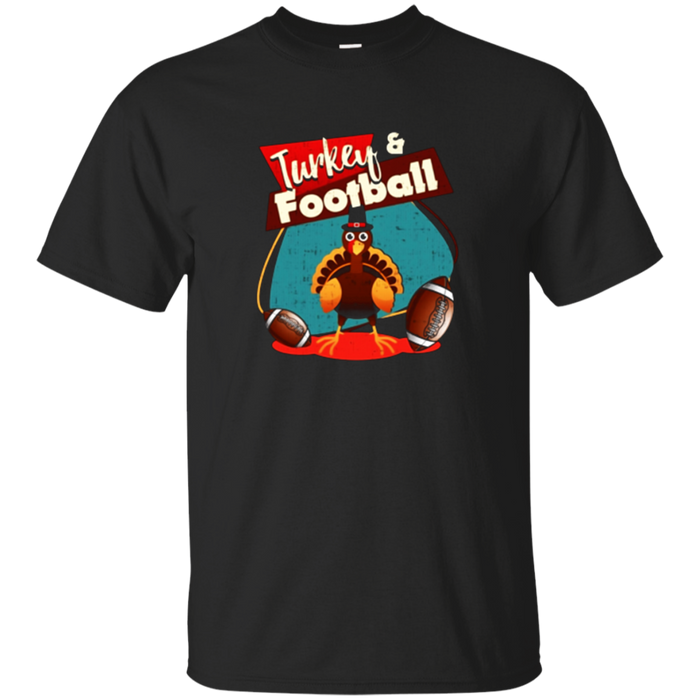 Turkey and football Thanksgiving T shirts