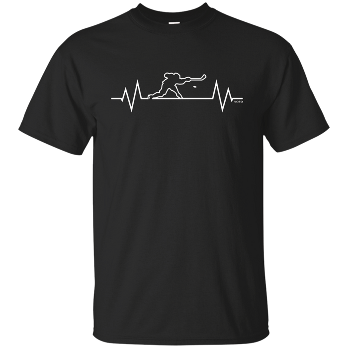 Hockey Heartbeat, I Love Hockey T-Shirt