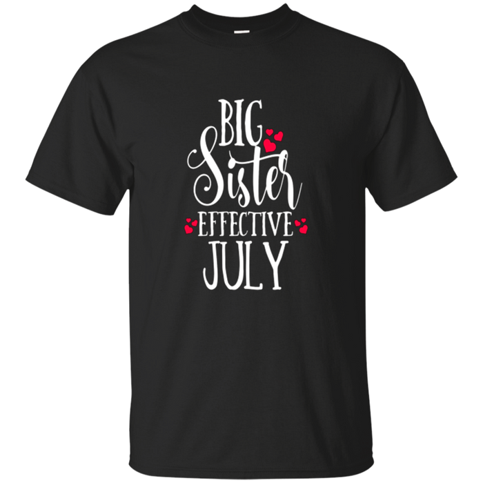 Big Sister Shirt Pregnancy Baby Mom Effective July