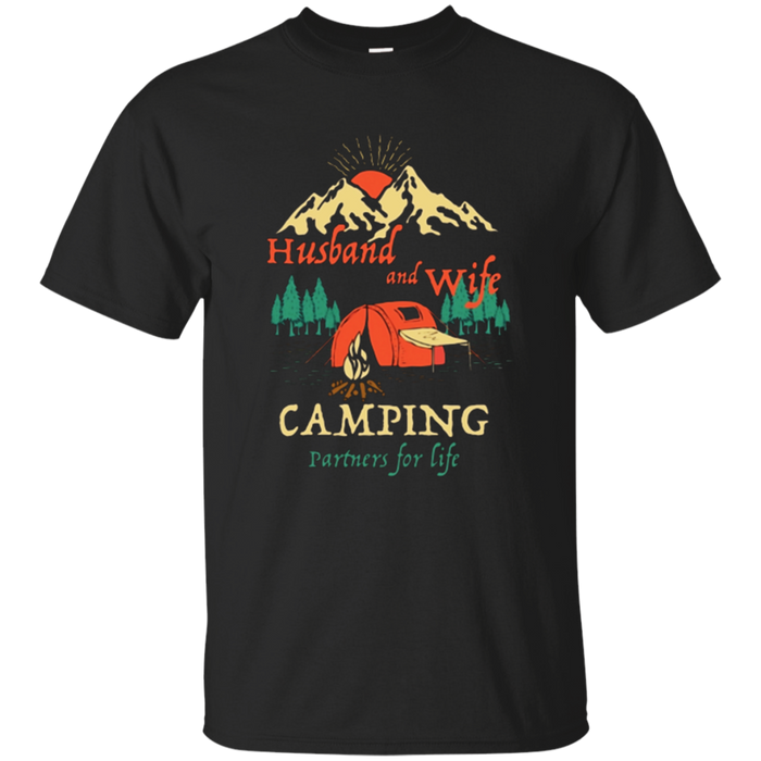 Camping Partners Life t-shirt Husband and Wife