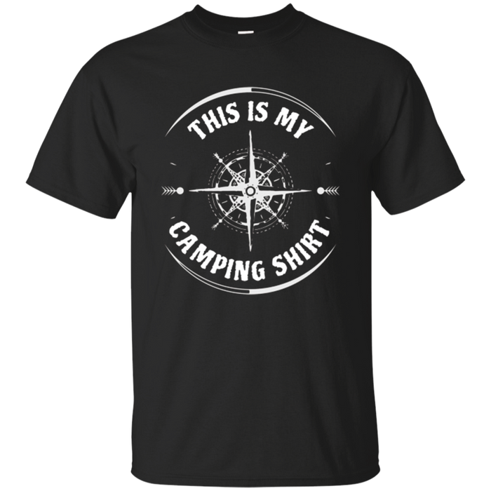 Camping T Shirt - Hiking Campfires Camper Lover Gift Idea