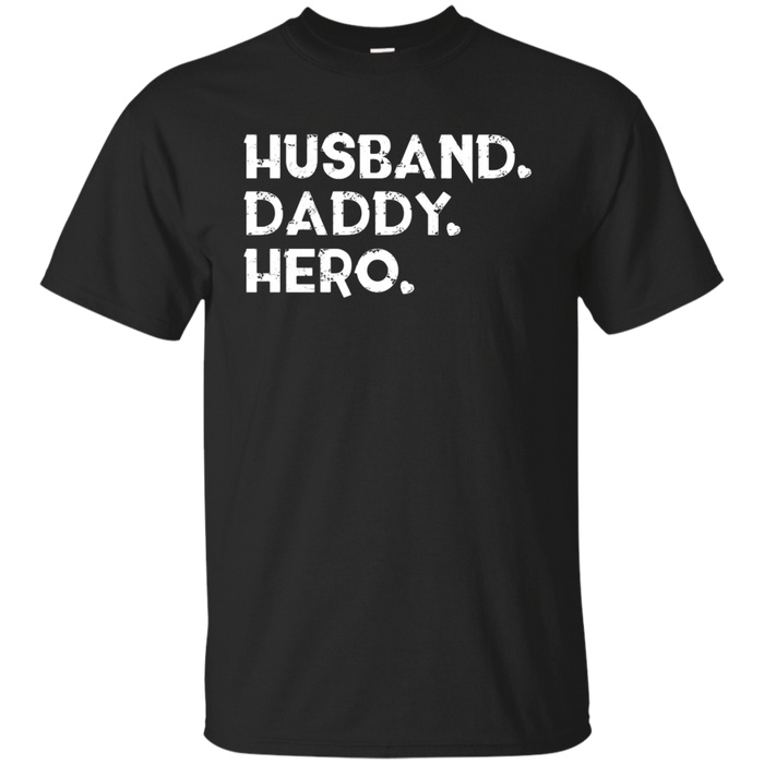 Mens Husband daddy hero t-shirt gift dad or husband father's day