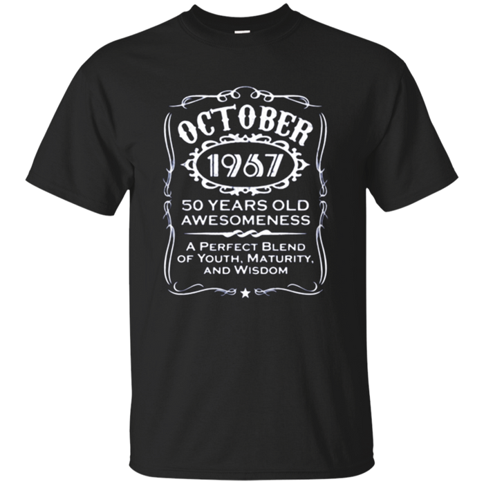 Vintage 50th Fifty Birthday Gift Dad Grandpa October Shirts
