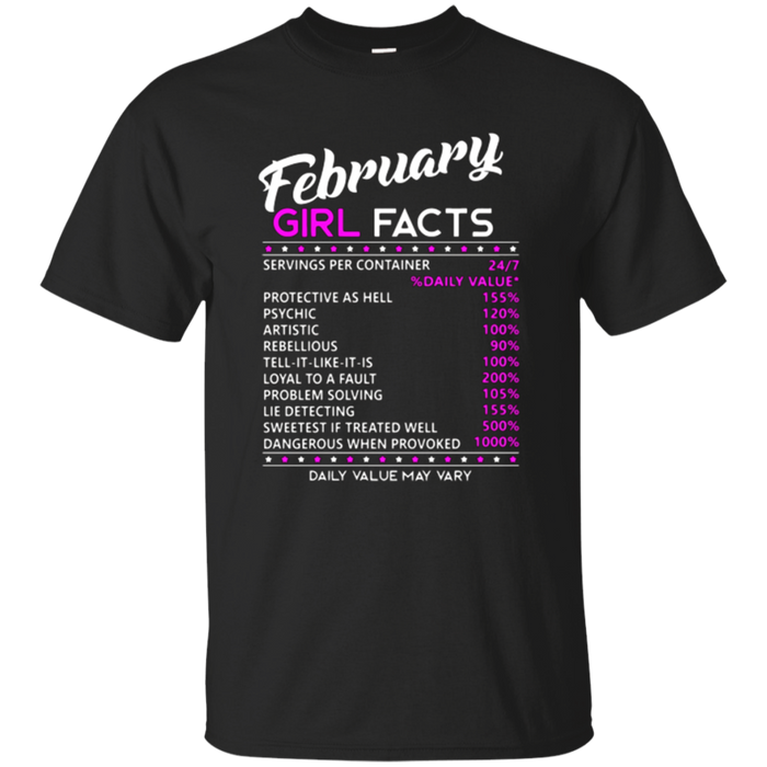 February Girl Facts T-shirt