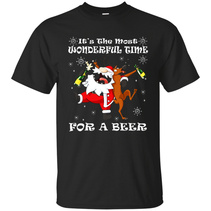 Christmas TShirt It's The Most Wonderful Time For A Beer Tee