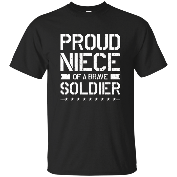 Proud Niece T Shirt Military Gift For Niece Soldier TShirt
