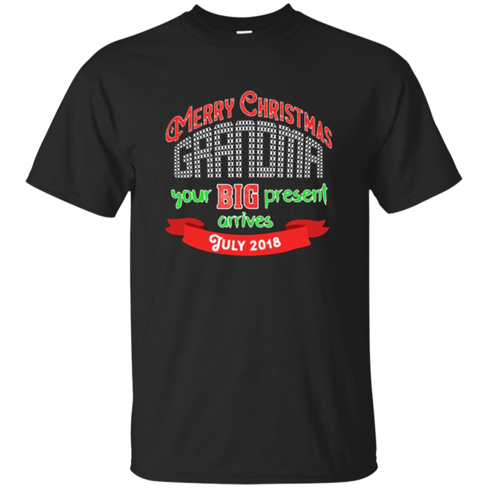 Merry Christmas Grandma July Baby Announcement T Shirt
