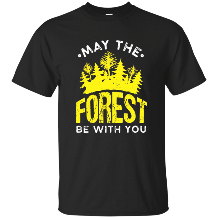 Nature Lovers Camping T-Shirt | May The Forest Be With You