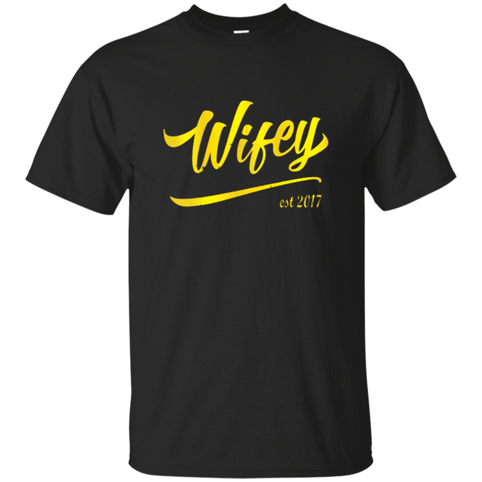 Wifey Hubby EST 2017 Matching T Shirt Husband Wife Love Life