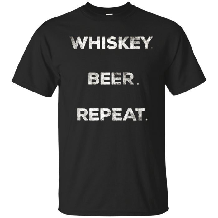 Whiskey Beer Repeat Vintage Graphic T-Shirt