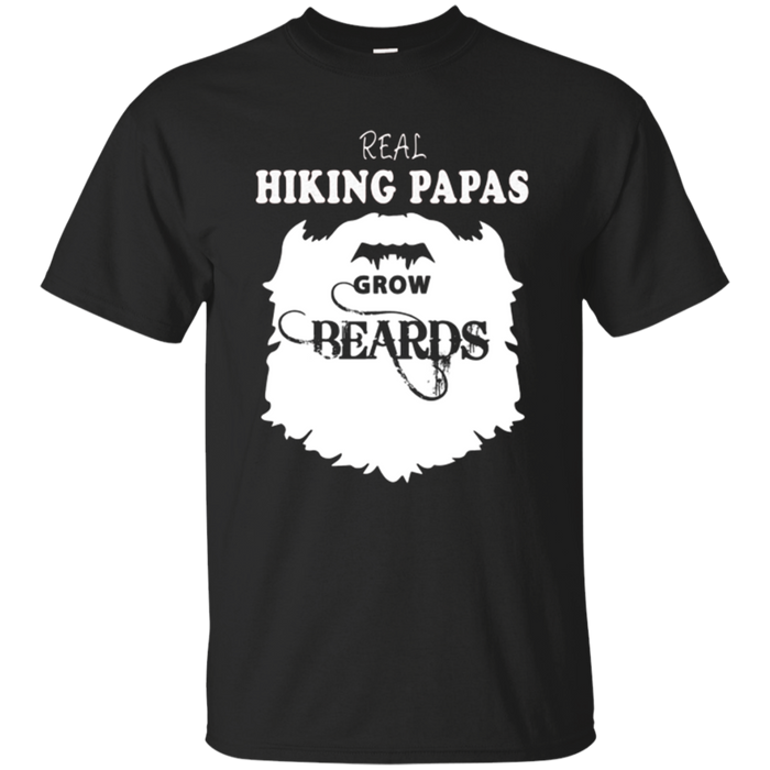 Hiking Papa gift beards t shirt, Father hiker bearded b day