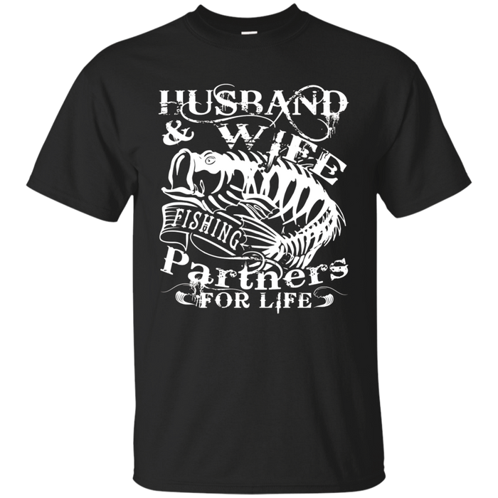 Husband And Wife T Shirt, Fishing Partners For Life T Shirt