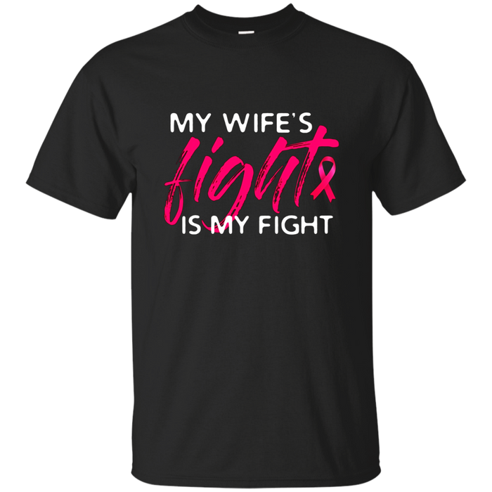 Mens Breast Cancer Awareness Mens Husband Support T-Shirt