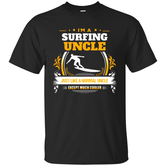 Funny Surfing Uncle Tshirt Christmas Gift for Uncle