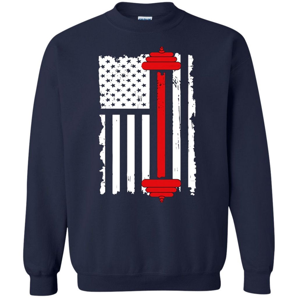 American Flag Gym and Fitness T-shirt | Weight Lifting Gift