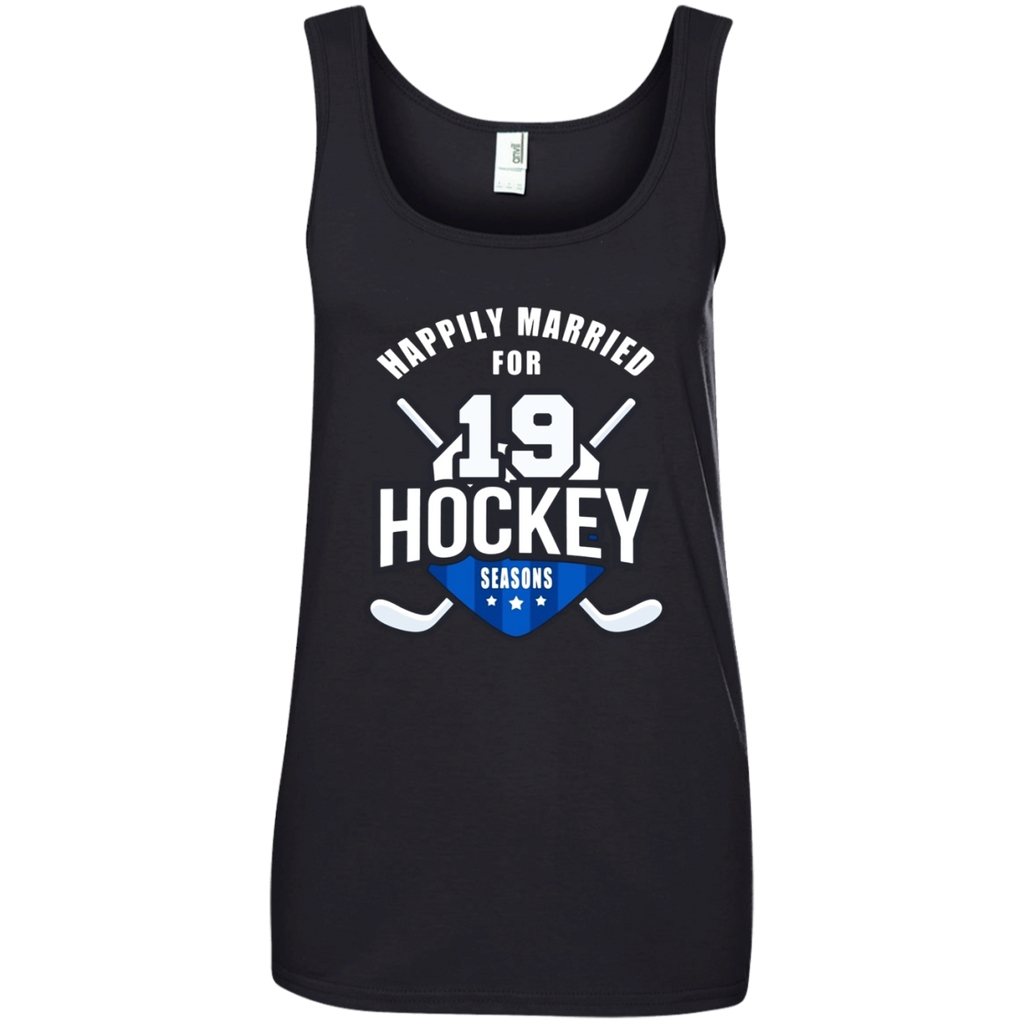 19th Wedding Anniversary T-Shirt Hockey Couple Gift Tee