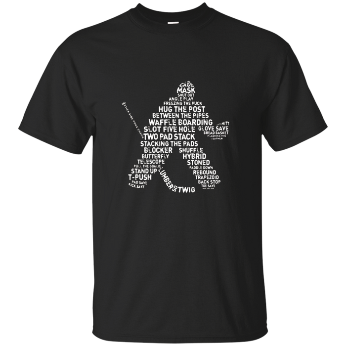 Hockey Goalie Typography T-shirt