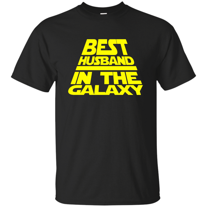 Mens Husband T-Shirt Best Husband in The Galaxy Funny Design