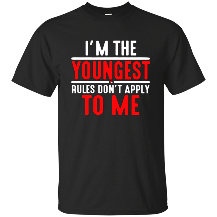 Brother and Sister Sibling Tee Shirt I am the Youngest.