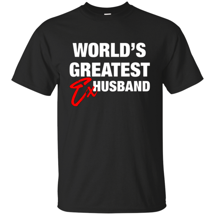 World's Greatest Ex-Husband T-Shirt. Funny Divorce Humor Tee