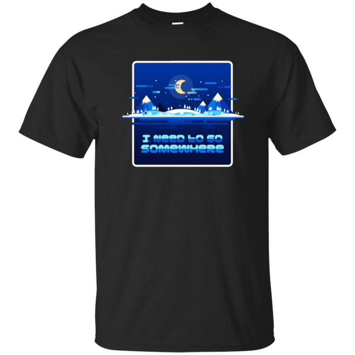 Outdoors Lover Winter Camping T Shirt