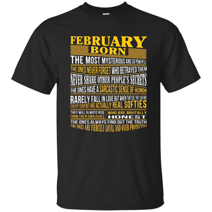 #1 Top selling February Born Facts Shirts for all ages