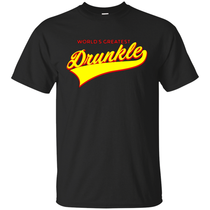 Mens Funny Uncle Gift World's Greatest Drunkle T-Shirt