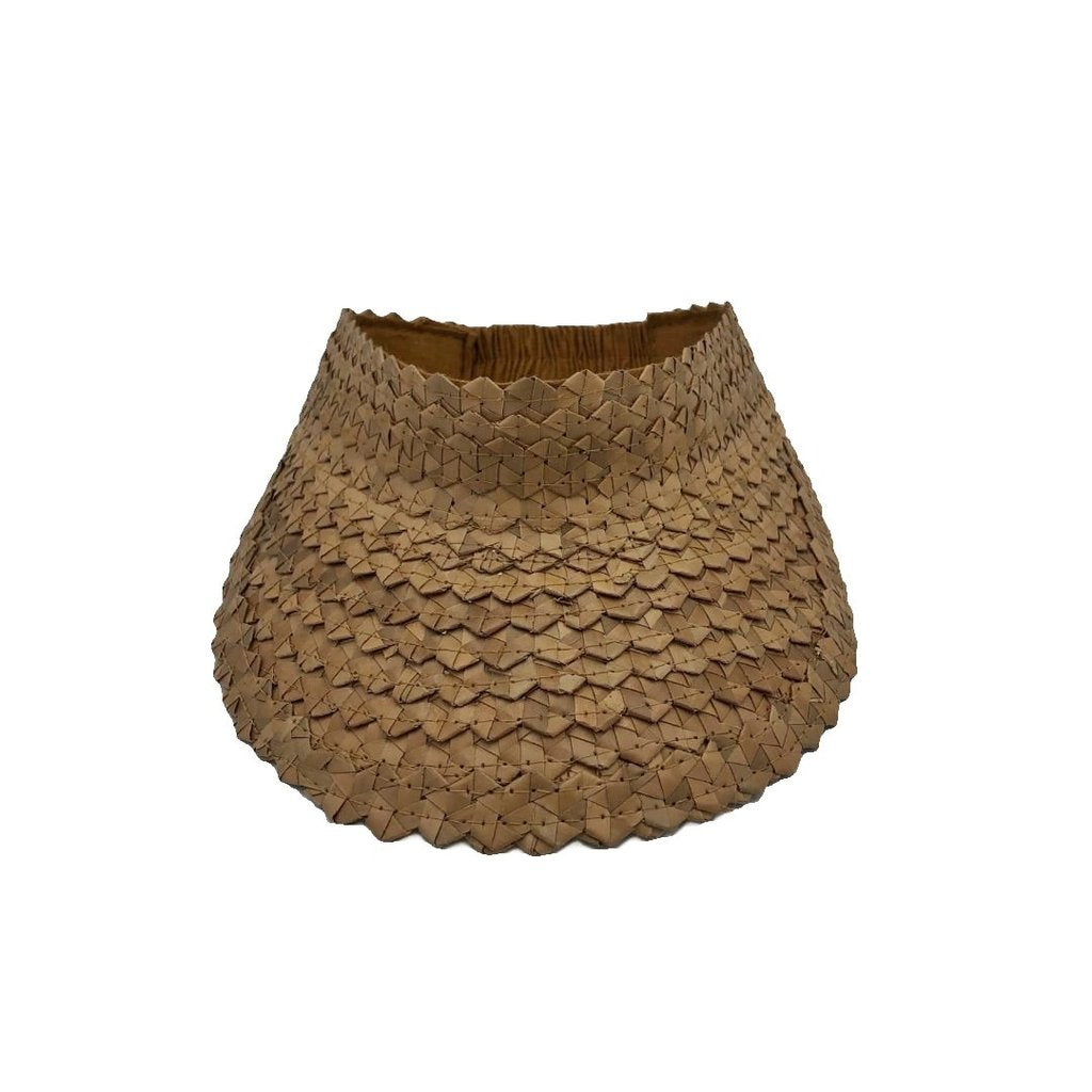 Palm Leaf Visor - Tan (Adult) BACK IN STOCK 1st March - Coco & Me - Children's swimwear - Australian swimwear - sun safe - UPF 50+ - Australian kids swimwear