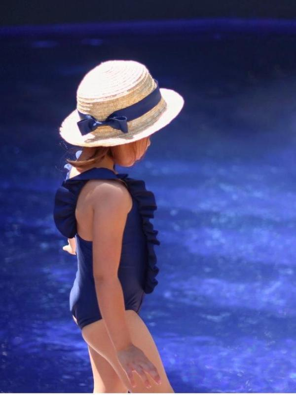 Navy Ruffle One Piece