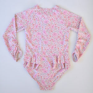 Daisy -  Long Sleeve Swimsuit - Coco & Me - Children's swimwear - Australian swimwear - sun safe - UPF 50+ - Australian kids swimwear