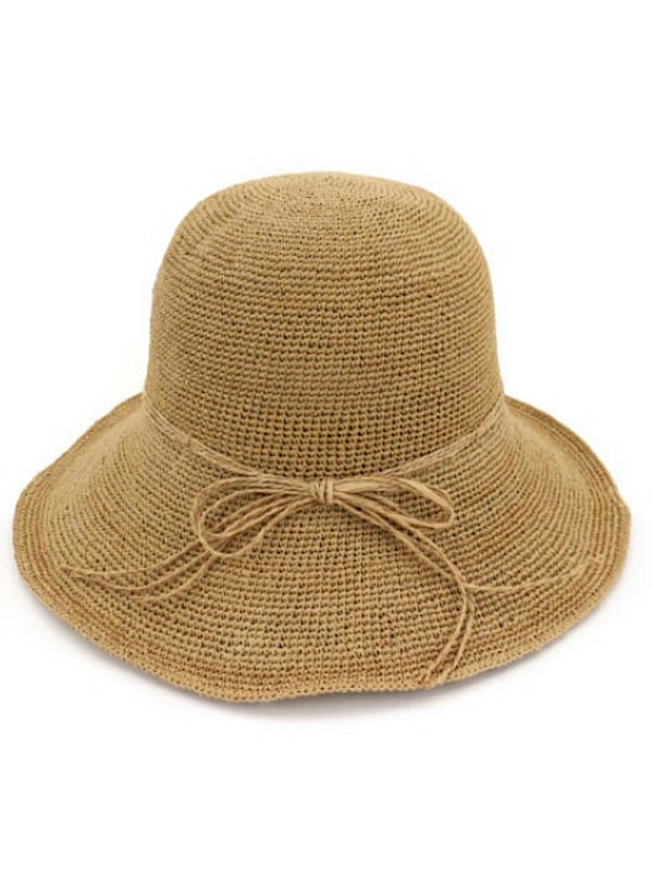 Raffia Bucket Hats -Hand weaved -Adult Hat - Coco & Me - Children's swimwear - Australian swimwear - sun safe - UPF 50+ - Australian kids swimwear